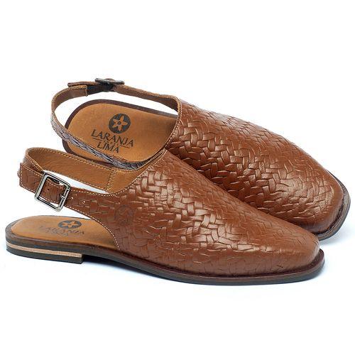 Laranja_Lima_Shoes_Sapatos_Femininos_Sapatilha_Bico_Fino_em_Couro_Caramelo_-_Codigo_-_136089_1