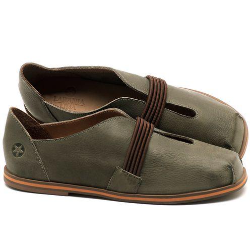Laranja_Lima_Shoes_Sapatos_Femininos_Sapatilha_Bico_Redondo_em_Couro_Verde_-_Codigo_-_3053_1