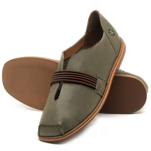 Laranja_Lima_Shoes_Sapatos_Femininos_Sapatilha_Bico_Redondo_em_Couro_Verde_-_Codigo_-_3053_2