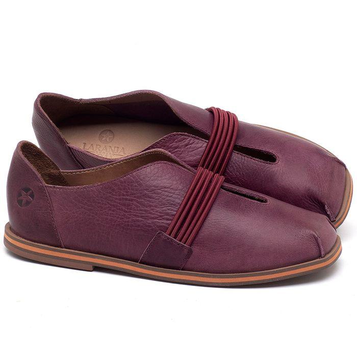 Laranja_Lima_Shoes_Sapatos_Femininos_Sapatilha_Bico_Redondo_em_Couro_Vinho_-_Codigo_-_3053_1
