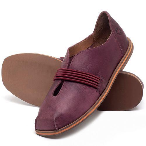 Laranja_Lima_Shoes_Sapatos_Femininos_Sapatilha_Bico_Redondo_em_Couro_Vinho_-_Codigo_-_3053_2