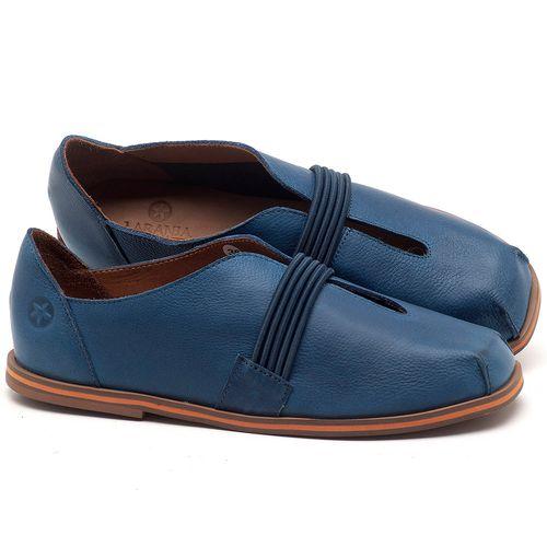Laranja_Lima_Shoes_Sapatos_Femininos_Sapatilha_Bico_Redondo_em_Couro_Azul_-_Codigo_-_3053_1