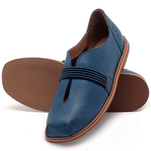 Laranja_Lima_Shoes_Sapatos_Femininos_Sapatilha_Bico_Redondo_em_Couro_Azul_-_Codigo_-_3053_2