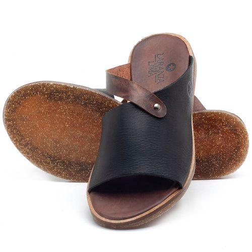 Laranja_Lima_Shoes_Sapatos_Femininos_Sandalia_Rasteira_Flat_em_Couro_Preto_-_Codigo_-_141056_2