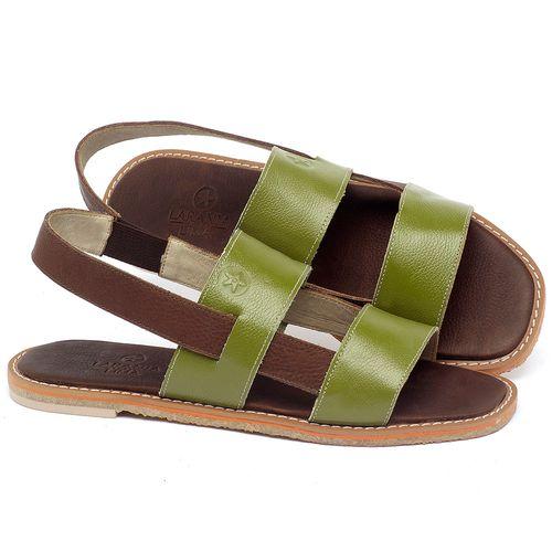 Laranja_Lima_Shoes_Sapatos_Femininos_Sandalia_Rasteira_Flat_em_Couro_Verde_-_Codigo_-_3718_1