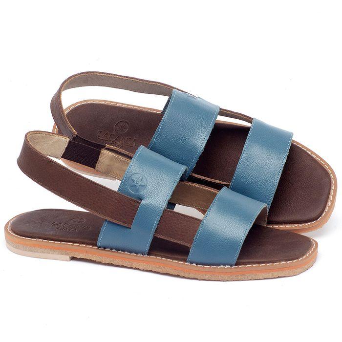Laranja_Lima_Shoes_Sapatos_Femininos_Sandalia_Rasteira_Flat_em_Couro_Azul_-_Codigo_-_3718_1