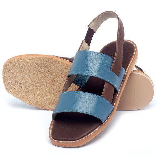 Laranja_Lima_Shoes_Sapatos_Femininos_Sandalia_Rasteira_Flat_em_Couro_Azul_-_Codigo_-_3718_2