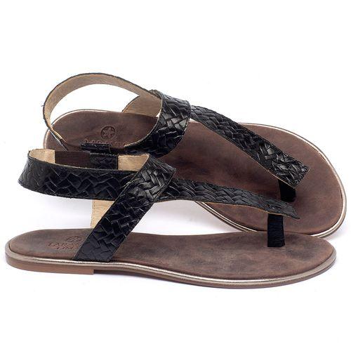 Laranja_Lima_Shoes_Sapatos_Femininos_Sandalia_Rasteira_Flat_em_Couro_Preto_-_Codigo_-_3722_1