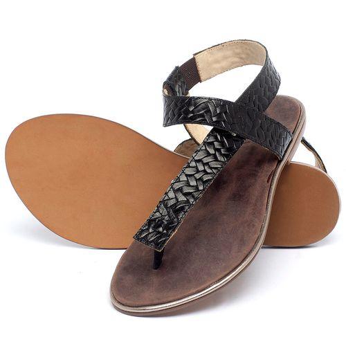 Laranja_Lima_Shoes_Sapatos_Femininos_Sandalia_Rasteira_Flat_em_Couro_Preto_-_Codigo_-_3722_2