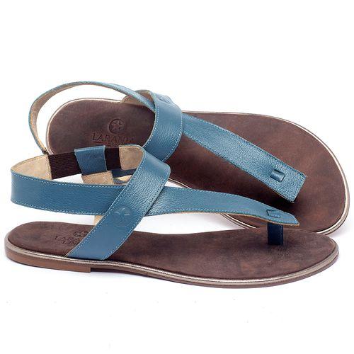 Laranja_Lima_Shoes_Sapatos_Femininos_Sandalia_Rasteira_Flat_em_Couro_Azul_-_Codigo_-_3722_1