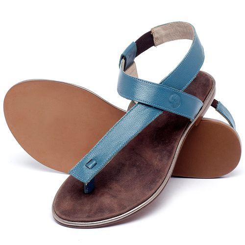 Laranja_Lima_Shoes_Sapatos_Femininos_Sandalia_Rasteira_Flat_em_Couro_Azul_-_Codigo_-_3722_2