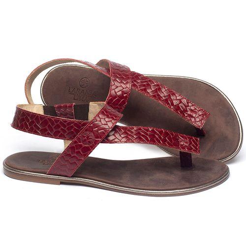 Laranja_Lima_Shoes_Sapatos_Femininos_Sandalia_Rasteira_Flat_em_Couro_Vermelho_-_Codigo_-_3722_1