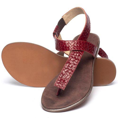 Laranja_Lima_Shoes_Sapatos_Femininos_Sandalia_Rasteira_Flat_em_Couro_Vermelho_-_Codigo_-_3722_2