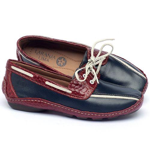 Laranja_Lima_Shoes_Sapatos_Femininos_Dockside_Laranja_Lima_Shoes_em_Couro_Marinho_-_Codigo_-_136005_1