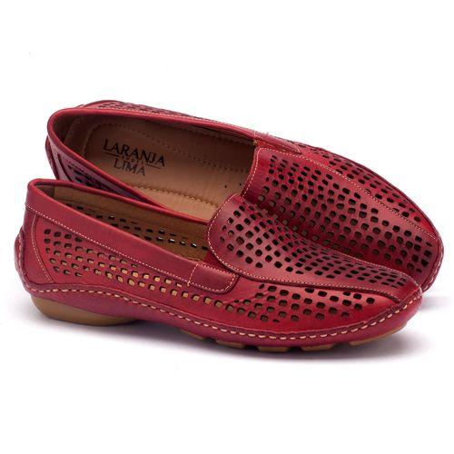 Laranja_Lima_Shoes_Sapatos_Femininos_Dockside_Laranja_Lima_Shoes_em_Couro_Vermelho_-_Codigo_-_136010_1