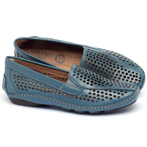 Laranja_Lima_Shoes_Sapatos_Femininos_Dockside_Laranja_Lima_Shoes_em_Couro_Azul_-_Codigo_-_136010_1