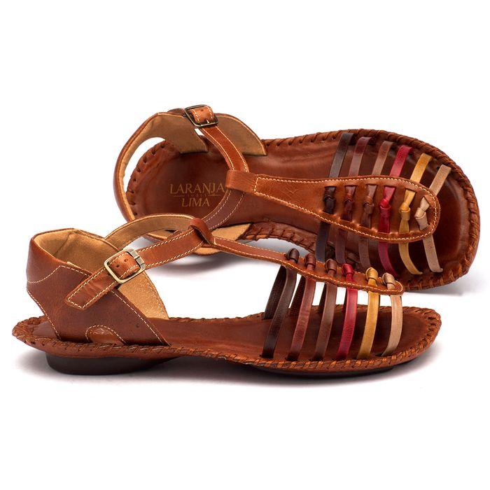 Laranja_Lima_Shoes_Sapatos_Femininos_Sandalia_Rasteira_Flat_em_Couro_Marrom_-_Codigo_-_136015_1