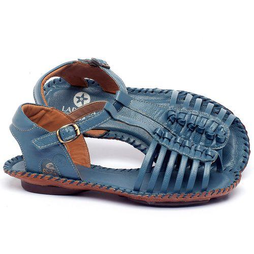 Laranja_Lima_Shoes_Sapatos_Femininos_Sandalia_Rasteira_Flat_em_Couro_Azul_-_Codigo_-_136015_1