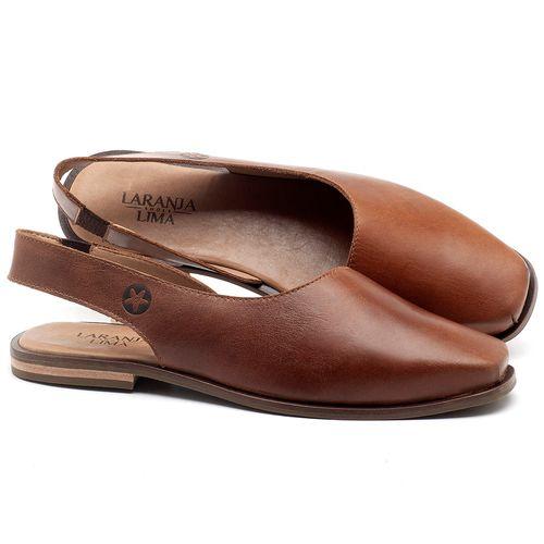 Laranja_Lima_Shoes_Sapatos_Femininos_Sapatilha_Bico_Quadrado_em_Couro_Caramelo_-_Codigo_-_136080_1