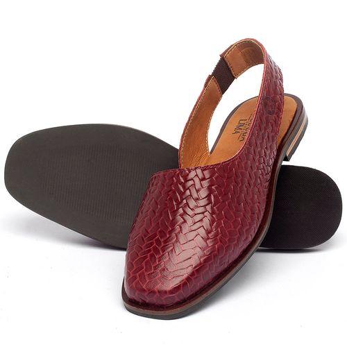 Laranja_Lima_Shoes_Sapatos_Femininos_Sapatilha_Bico_Quadrado_em_Couro_Vermelho_-_Codigo_-_136080_2