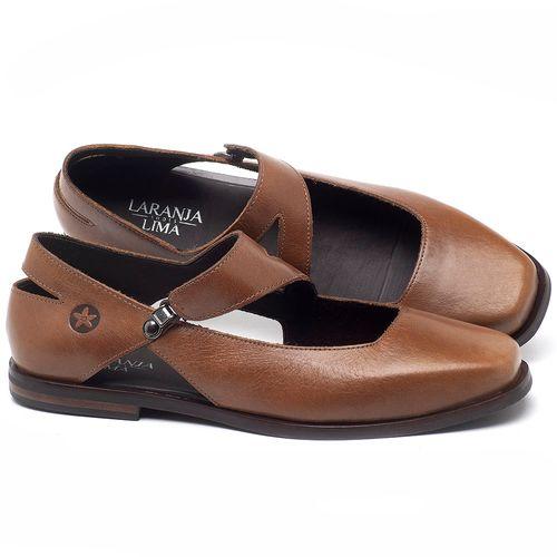 Laranja_Lima_Shoes_Sapatos_Femininos_Sapatilha_Bico_Fino_em_Couro_Caramelo_-_Codigo_-_136091_1