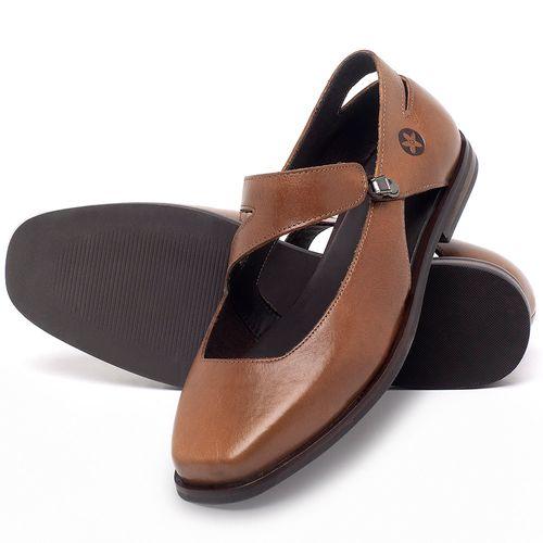 Laranja_Lima_Shoes_Sapatos_Femininos_Sapatilha_Bico_Fino_em_Couro_Caramelo_-_Codigo_-_136091_2