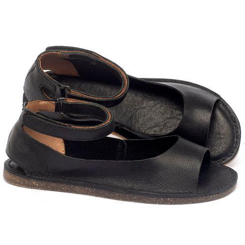 Laranja_Lima_Shoes_Sapatos_Femininos_Sandalia_Rasteira_Flat_em_Couro_Preto_-_Codigo_-_141158_1
