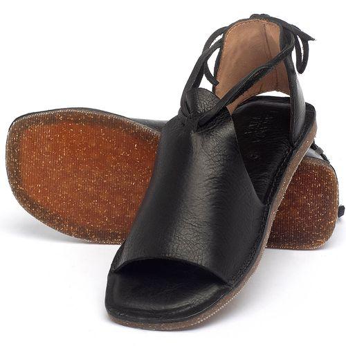 Laranja_Lima_Shoes_Sapatos_Femininos_Sandalia_Rasteira_Flat_em_Couro_Preto_-_Codigo_-_141164_2