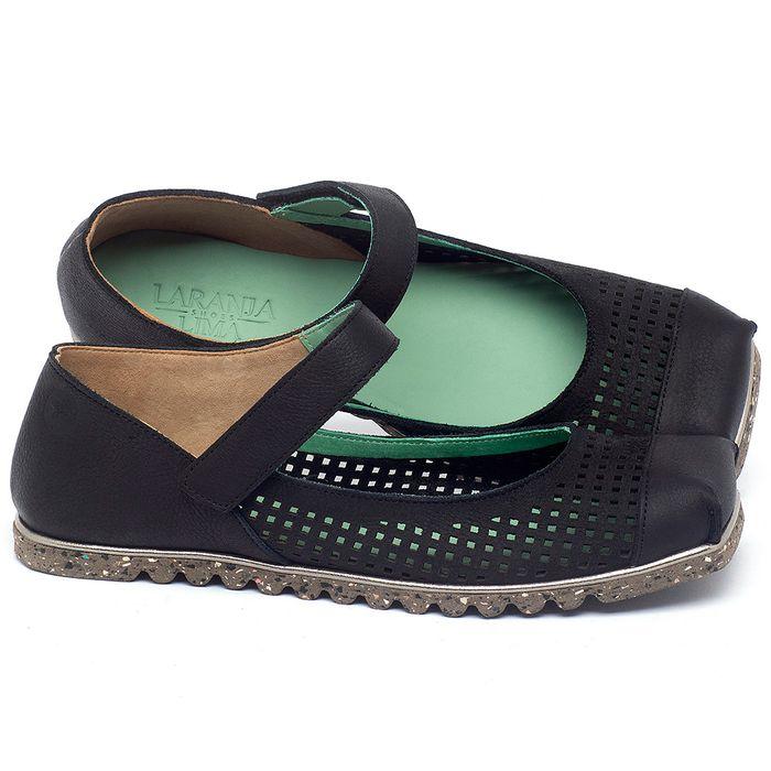 Laranja_Lima_Shoes_Sapatos_Femininos_Sapatilha_Bico_Quadrado_em_Couro_Preto_-_Codigo_-_145048_1