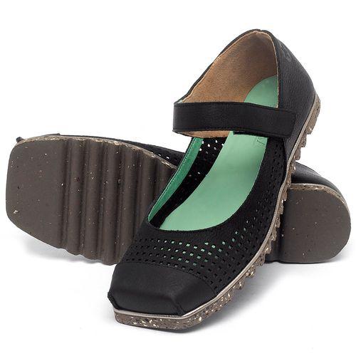 Laranja_Lima_Shoes_Sapatos_Femininos_Sapatilha_Bico_Quadrado_em_Couro_Preto_-_Codigo_-_145048_2