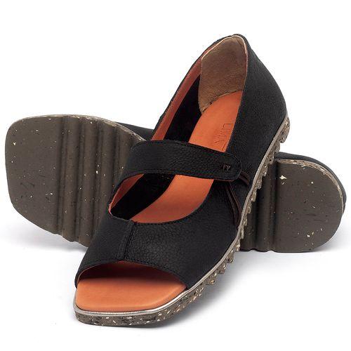 Laranja_Lima_Shoes_Sapatos_Femininos_Sandalia_Rasteira_Flat_em_Couro_Preto_-_Codigo_-_145050_2