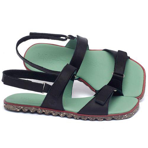 Laranja_Lima_Shoes_Sapatos_Femininos_Sandalia_Rasteira_Flat_em_Couro_Preto_-_Codigo_-_145054_1