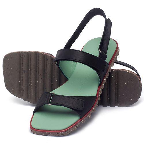 Laranja_Lima_Shoes_Sapatos_Femininos_Sandalia_Rasteira_Flat_em_Couro_Preto_-_Codigo_-_145054_2