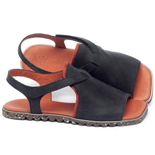 Laranja_Lima_Shoes_Sapatos_Femininos_Sandalia_Rasteira_Flat_em_Couro_Preto_-_Codigo_-_145055_1