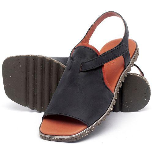 Laranja_Lima_Shoes_Sapatos_Femininos_Sandalia_Rasteira_Flat_em_Couro_Preto_-_Codigo_-_145055_2