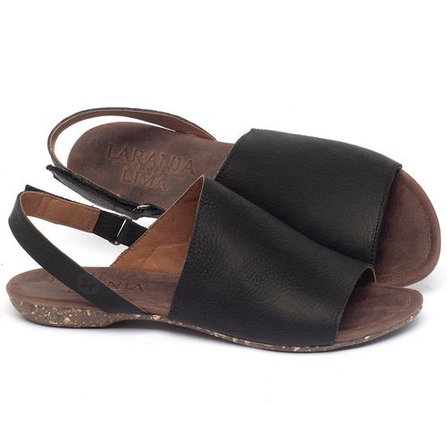 Laranja_Lima_Shoes_Sapatos_Femininos_Sandalia_Rasteira_Flat_em_Couro_Preto_-_Codigo_-_148030_1