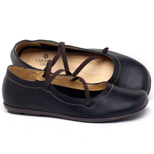 Laranja_Lima_Shoes_Sapatos_Femininos_Sapatilha_Bico_Redondo_em_Couro_Preto_-_Codigo_-_9471_1