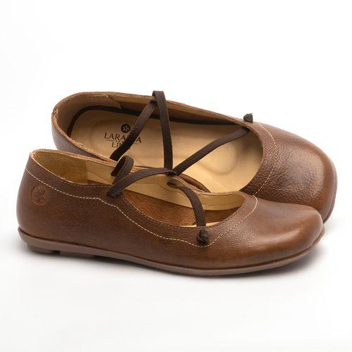Laranja_Lima_Shoes_Sapatos_Femininos_Sapatilha_Bico_Redondo_em_Couro_Caramelo_-_Codigo_-_9471_1