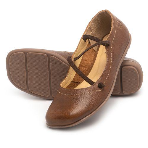 Laranja_Lima_Shoes_Sapatos_Femininos_Sapatilha_Bico_Redondo_em_Couro_Caramelo_-_Codigo_-_9471_2