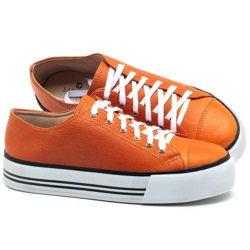 Laranja_Lima_Shoes_Sapatos_Femininos_Tenis_Cano_Baixo_em_Couro_Laranja_-_Codigo_-_9446_1