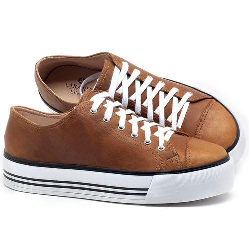 Laranja_Lima_Shoes_Sapatos_Femininos_Tenis_Cano_Baixo_em_Couro_Caramelo_-_Codigo_-_9446_1