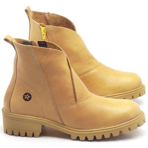 Laranja_Lima_Shoes_Sapatos_Femininos_Bota_Cano_Curto_em_Couro_Amarelo_-_Codigo_-_137238_1
