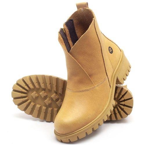 Laranja_Lima_Shoes_Sapatos_Femininos_Bota_Cano_Curto_em_Couro_Amarelo_-_Codigo_-_137238_2
