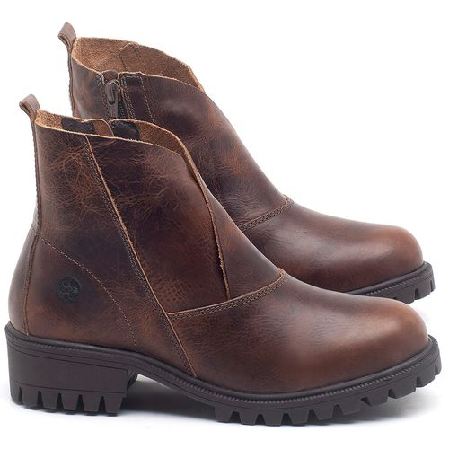 Laranja_Lima_Shoes_Sapatos_Femininos_Bota_Cano_Curto_em_Couro_Marrom_-_Codigo_-_137238_1