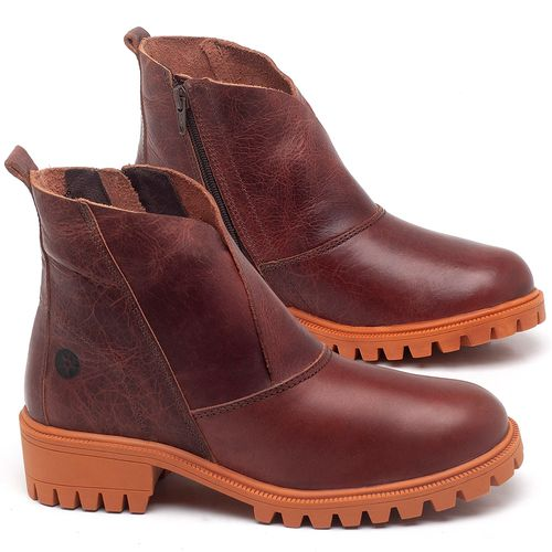 Laranja_Lima_Shoes_Sapatos_Femininos_Bota_Cano_Curto_em_Couro_Laranja_-_Codigo_-_137238_1