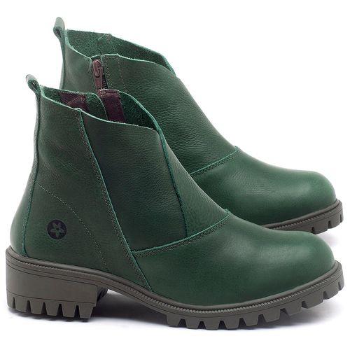 Laranja_Lima_Shoes_Sapatos_Femininos_Bota_Cano_Curto_em_Couro_Verde_-_Codigo_-_137238_1