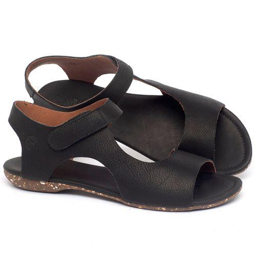 Laranja_Lima_Shoes_Sapatos_Femininos_Sandalia_Rasteira_Flat_em_Couro_Preto_-_Codigo_-_148026_1