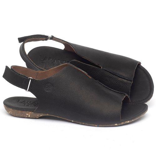 Laranja_Lima_Shoes_Sapatos_Femininos_Sandalia_Rasteira_Flat_em_Couro_Preto_-_Codigo_-_148029_1
