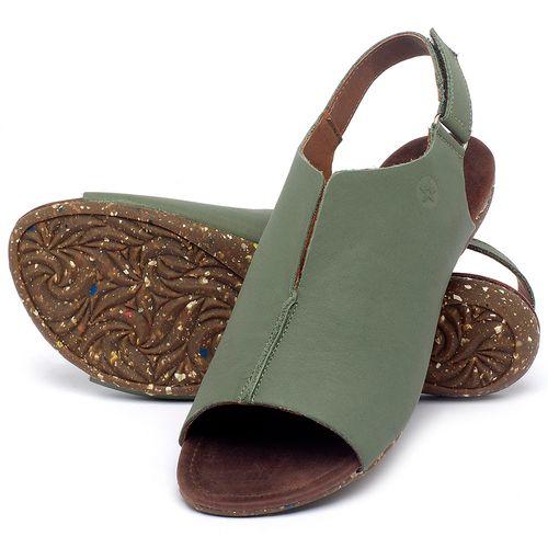 Laranja_Lima_Shoes_Sapatos_Femininos_Sandalia_Rasteira_Flat_em_Couro_Verde_-_Codigo_-_148029_2