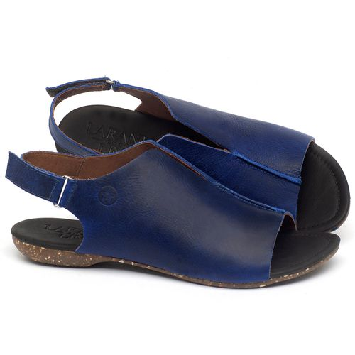 Laranja_Lima_Shoes_Sapatos_Femininos_Sandalia_Rasteira_Flat_em_Couro_Azul_-_Codigo_-_148029_1